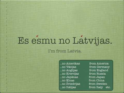 Learn Latvian Language Lesson 2