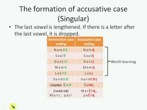 Lithuanian grammar (2) - Accusative case