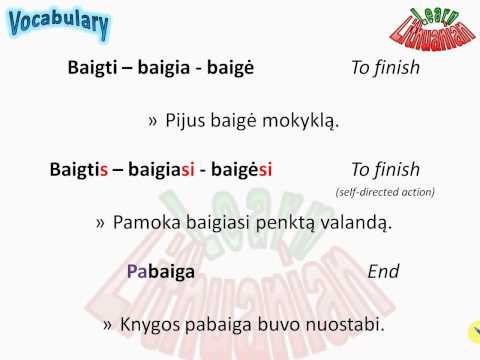Lithuanian Vocabulary - Beginning and end